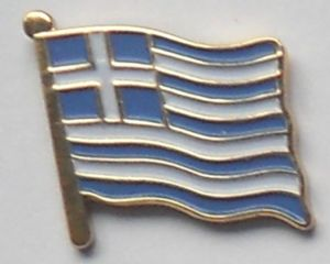 Greece Country Flag Enamel Pin Badge